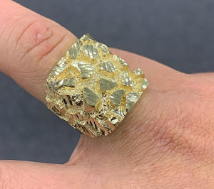 10k thick nugget ring