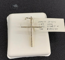 Load image into Gallery viewer, 10k si diamond thin cross