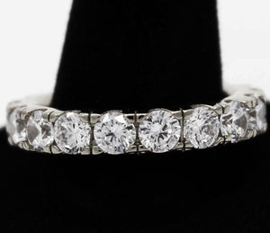 925 silver solitaire eternity ring