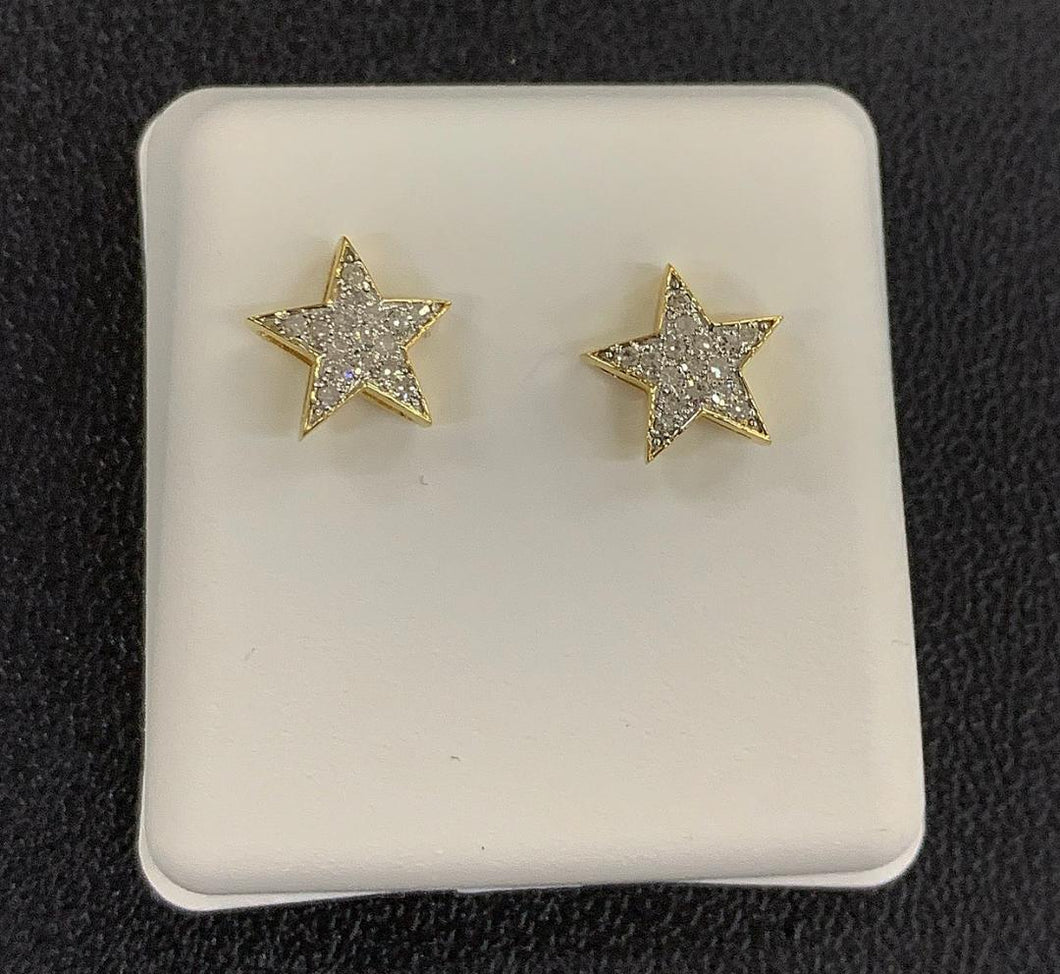10k star diamond earrings