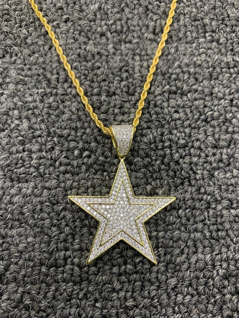 triple star / 20in rope chain