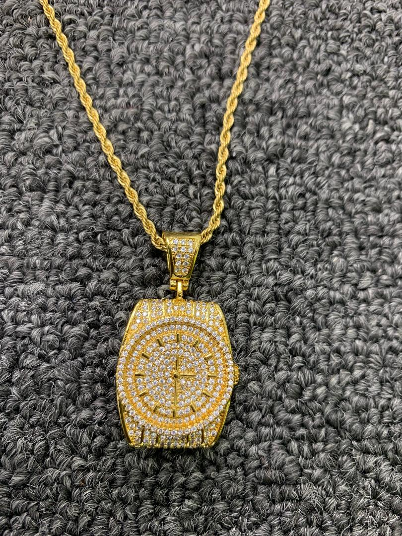 watch with 20 in rope chain