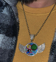 Load image into Gallery viewer, wings custom memory pendant with 20 in rope chain