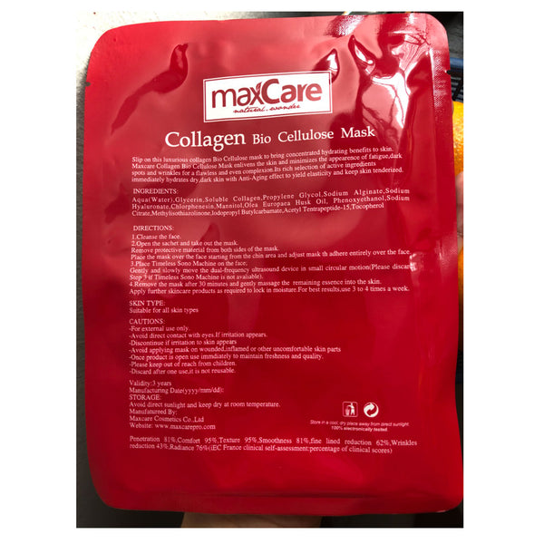 Maxcare Mask Collagen Bio Cellulose 30ml.
