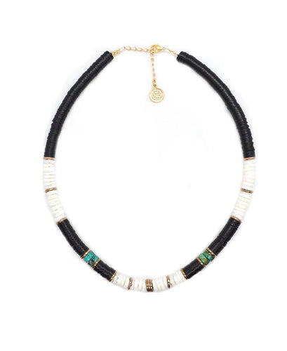 collier surfer black/white pearl karma