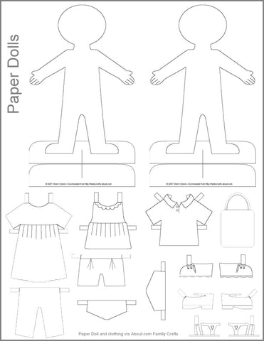 large paper doll template - chickduckgoose paper doll template