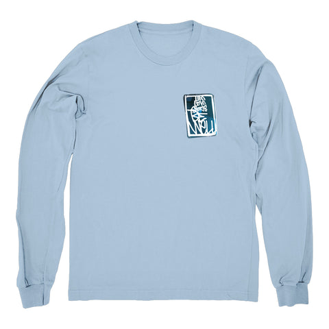 "BE WELL ""Life Love Shirts - Sky"" Longsleeve"