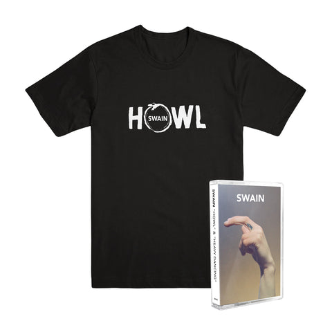 "SWAIN ""Howl & Heavy Dancing"" Tape + T-Shirt Bundle"