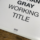 "RARITY: NATHAN GRAY ""Working Title"" LP (Screenprinted Cover + White In Doublemint Vinyl)"