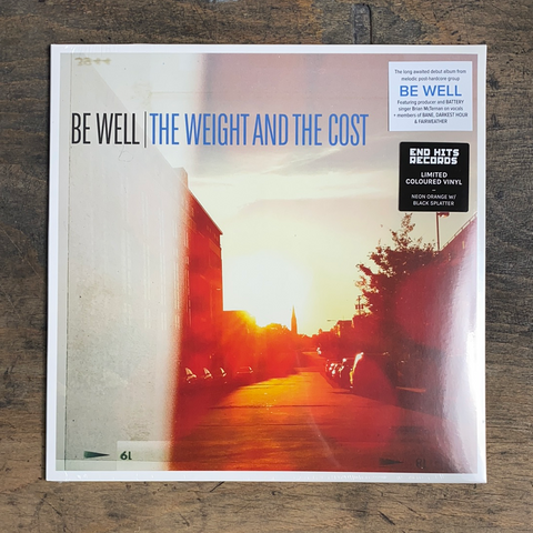 "RARITY: BE WELL ""The Weight And The Cost"" LP (Limited Coretex Edition - Neon Orange / Black Splatter Vinyl)"