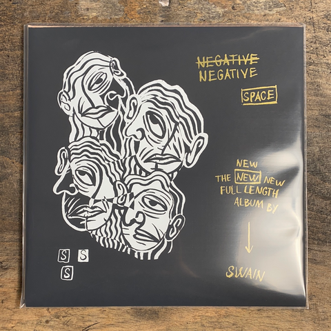 "RARITY: SWAIN ""Negative Space"" LP (Screenprinted Cover)"
