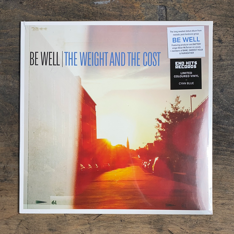 "RARITY: BE WELL ""The Weight And The Cost"" LP (Limited Coretex Edition - Cyan Blue Vinyl)"