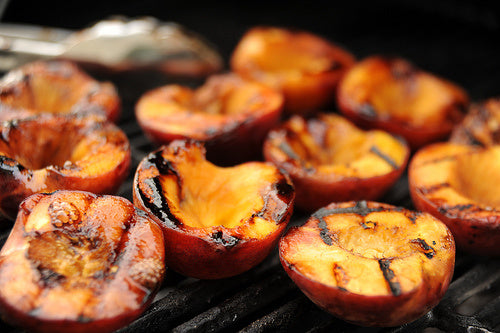 grilled peaches recipe for dessert... 6 Easy, Innovative, & Healthy Recipes for Summer from Bathroom Bliss by Rotator Rod