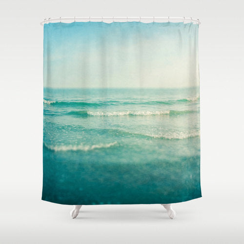 calm beach shower curtain... 6 Perfect Beach Shower Curtains for Summer from Bathroom Bliss by Rotator Rod