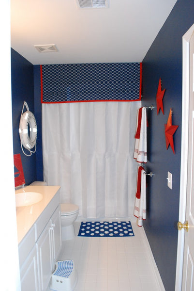 American Inspired Red White Amp Blue Bathrooms Rotator Rod