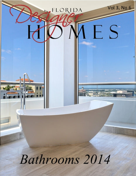 modern freestanding bathtub with Miami view... Bathroom Design Trends: Miami Style from Bathroom Bliss by Rotator Rod