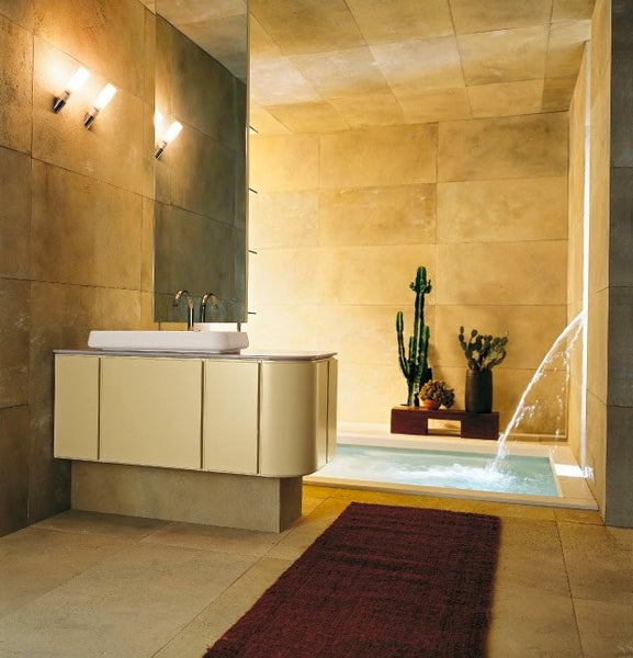 cream colored spa bathroom featuring cacti and waterfall bathtub... Bathroom Style Trends: Bathroom Plant Ideas from Bathroom Bliss by Rotator Rod