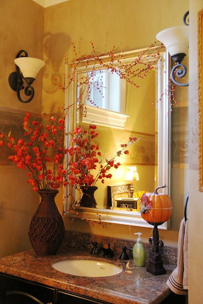 Beautiful Bathroom Inspiration Fall Decorating Ideas