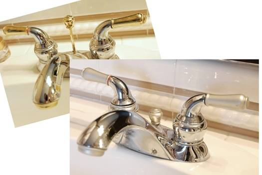 DIY painted faucet update... Easy Bathroom Updates for a More Luxurious Rental Apartment