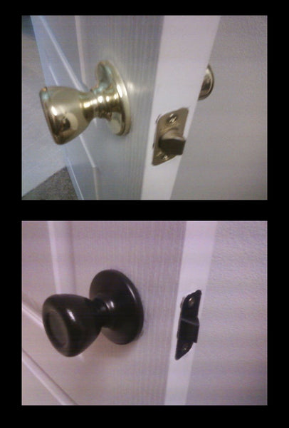 DIY painted bathroom doorknob update... Easy Bathroom Updates for a More Luxurious Rental Apartment