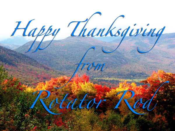 Happy Thanksgiving + #BlackFriday Refer-A-Friend Program! from Bathroom Bliss by Rotator Rod