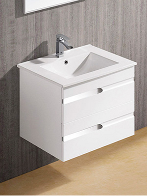 contemporary white floating bathroom vanity... Hottest Space-Saving Bathroom Trends for 2015 from The Bathroom Bliss Blog