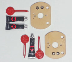 No-Drill Adapter Kit for installation on tile or fiberglass without drilling holes