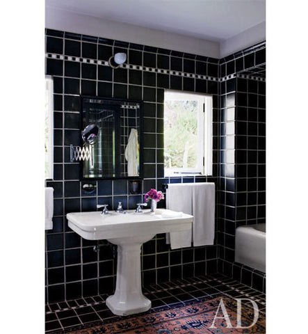 Bathroom Bliss by Rotator Rod - Trending Now in Bathroom Decor: Swap the Bath Mat for a Persian Rug