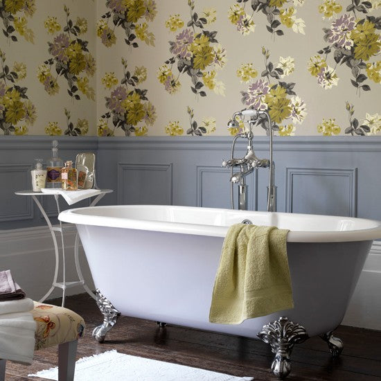 Small Bathroom Chic: Lovely Floral Prints from Bathroom Bliss by Rotator Rod