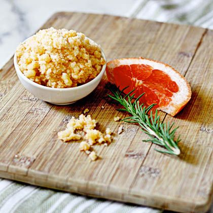 grapefruit rosemary foot scrub... 5 Best DIY Spa Treatments for Summer from Bathroom Bliss by Rotator Rod