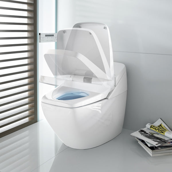 high-tech wellness toilet that washes & dries you, plays music... Trending in Bathroom Decor: High-Tech Bathroom Gadgets from Bathroom Bliss by Rotator Rod