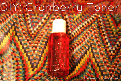 easy DIY Cranberry Toner recipe... Turn Your Bathroom into a Spa with DIY Fall Beauty Treatments from Bathroom Bliss by Rotator Rod