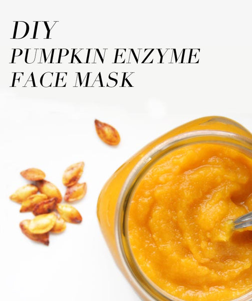easy DIY Pumpkin Enzyme Face Mask recipe... Turn Your Bathroom into a Spa with DIY Fall Beauty Treatments from Bathroom Bliss by Rotator Rod