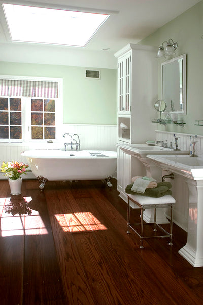 Wood Floor Bathroom Inspiration Rotator Rod