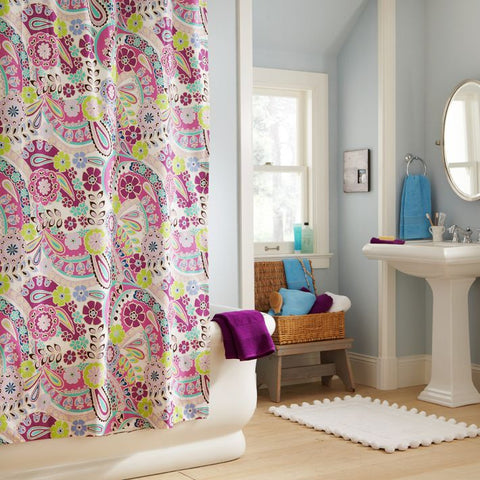 Another Huge Trend This Season Is Paisley, An Exotic Leaf Print That  Originated In Ancient India. Check Out These Paisley Designed Shower  Curtains From ...