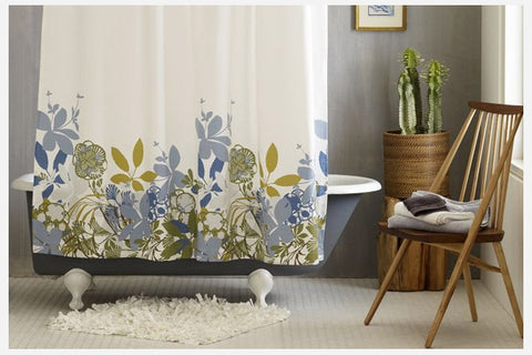 The Final Trend Weu0027ve Been Seeing From Home Decor Designers Is Water Color  Floral Prints. These Shower Curtains Are Simple, Modern, And Sophisticated.
