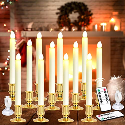 Holiday Candles Battery Operated Candles with Timer
