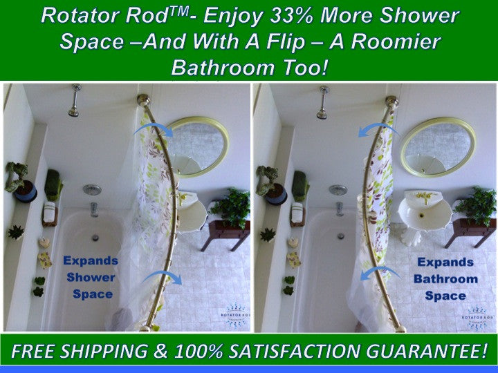 The Rotator Rod™: The Original Rotating Curved Shower Rod