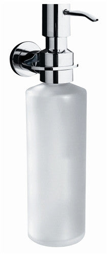 glass soap or shampoo dispenser... Rotator Rod's New Bathroom Accessories - With No Drilling Required! from Bathroom Bliss by Rotator Rod