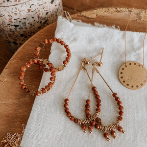 Boucles terracotta