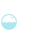 EarthSuds in white font with hand-drawn blue bubble