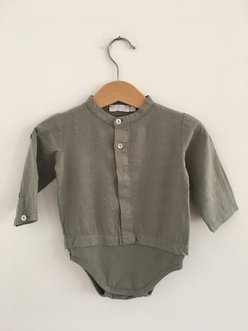 Body Camisa Linho Chic Collection LARANJINHA 6 Meses