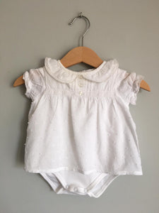 Vestido com Body integrado GOCCO 3/6 Meses