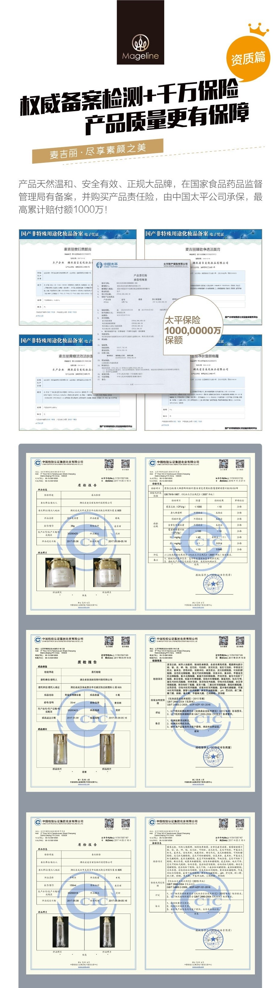 Mageline Skincare Test Reports