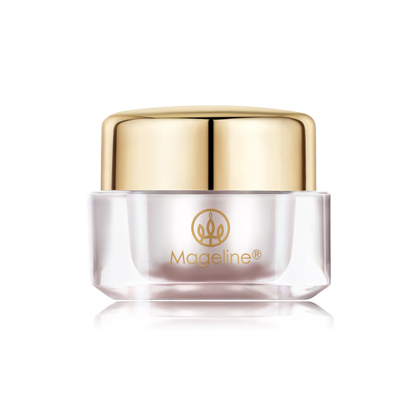 Mageline Fairy Eye Cream. Super antioxidant, hydrating, effective in reducing fine lines and wrinkles, eliminate dark circles, eye bags and fat particles. Locks in moisture and replenishes collagen. It helps clear blood vessels under the eyes, rebuild eye socket structure, get rid of puffy eyes and eye bags.
