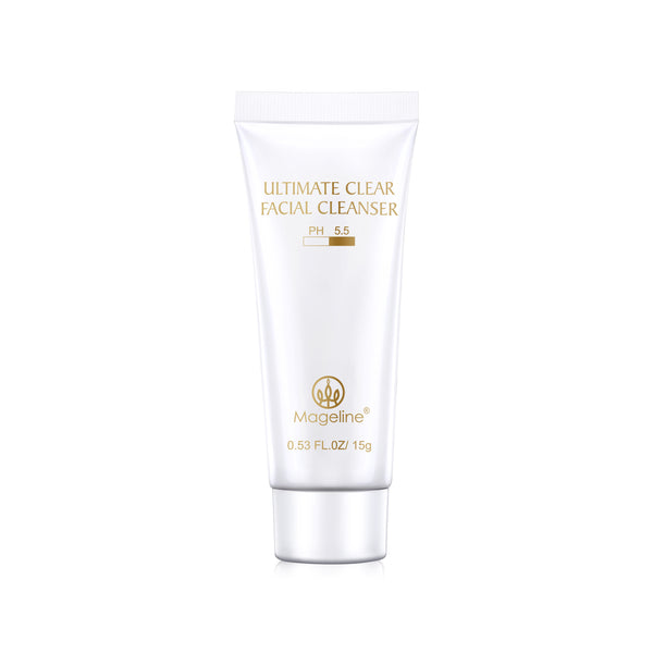 Mageline Ultimate Clear Facial Cleanser. Mild facial cleanser to rid the skin of any impurities, but keep it hydrated at the same time. Deep cleansing of pores, exfoliate and removal of makeup residual, dirt and dust. Designed for sensitive skin with a PH value of 5.5, mild and without irritation and does not give the skin any burden. It control oil secretion and also removes acne, soothes skin irritation and leaving the skin clean, soft and refreshed.