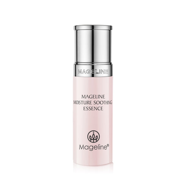 Mageline Moisture Soothing Essence. Contains a variety of plant extracts and other skincare ingredients such as yeast extract and snail extract which provide deep moisturising. It helps with dry and sensitive skin condition. Creates healthy and lustrous skin after long-term use