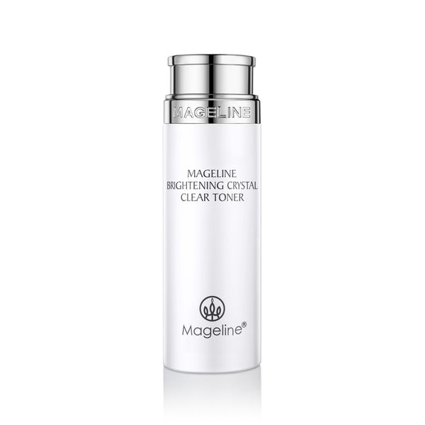 Mageline Brightening Crystal Clear Toner. With fresh and lightweight texture, it is absorbed well into the deep skin layer, and can gently, yet effectively hydrate the skin, leaving skin feeling relieved and brightened. Adopt bio-fermentation technology for the skin nutrient replenishment, which can visibly improve skin dullness and roughness to waken the flawless and radiant skin. Day after day, skin becomes more pure and delicate