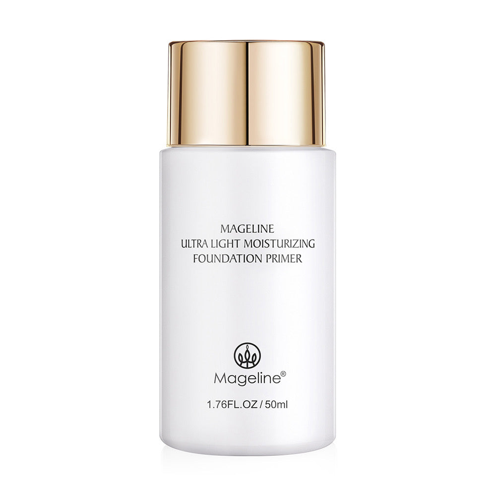 Mageline Ultra Light Moisturising Foundation Primer 50ml This natural plant-based primer can go a long way towards helping you achieve the look and finish you want, while also prolonging the wear of your makeup and protect your skin from the makeup and pollutions.