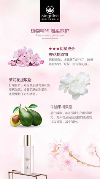 mageline cherry blossom fragrance body lotion